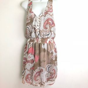 free people gray pink paisley floral dress Size S